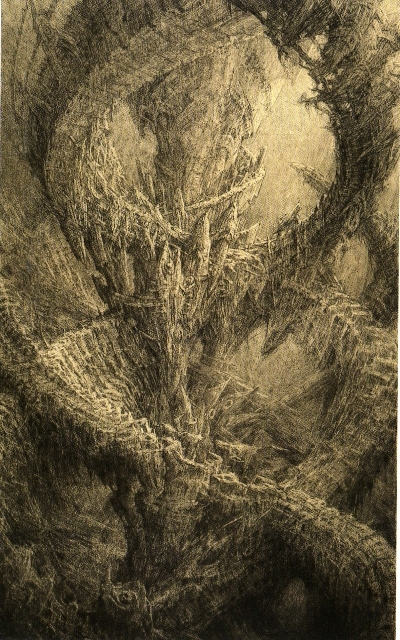 "J. M Mathieux-Marie: ""Helicorde,"" dry point."