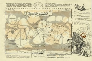 Barsoom Lowellian map, from ERBZine