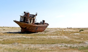 where the Aral sea used to be
